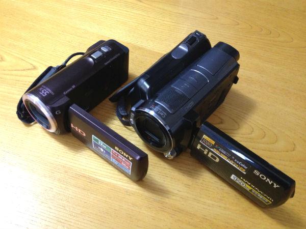 SONYハンディカム HDR-SR12とHDR-CX390